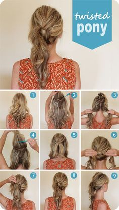 3 Easy Ways Back to School Hairstyles twisted ponytail hairstyle tutorial