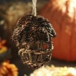 Pinecone and Twig Acorn Ornament - Christmas Ornaments - Christmas and Winter - Holiday Crafts Snowman Ornaments, Christmas Ornaments, Inexpensive Christmas Gifts, Holiday Crafts, Holiday Decor, Pine Cone Crafts, Pinecone, Winter Holidays, Acorn