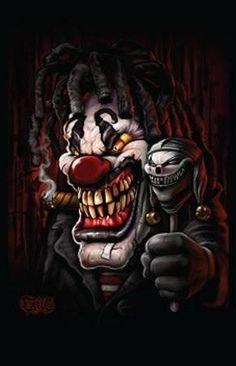 Evil Clown, you never want to go to the circus again Scary Clown Face, Gruseliger Clown, Joker Clown, Clown Faces, Joker Art, Evil Clowns, Scary Clowns, Arte Horror, Horror Art
