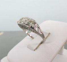 Antique Engagement Ring Art Deco Ring di FergusonsFineJewelry, $4500.00