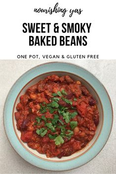Sweet and Smoky Baked Beans | One Pot, Vegan & Gluten Free | Nourishing Yas - Simple Plant based Recipes #vegan #veganrecipes #healthyrecipes #plantbased #bakedbeans #lunch #dinner #mains #vegetarian #glutenfree