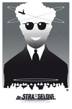 Dr STRANGELOVE-black version (SK Films) Art Print by Alain Bossuyt