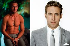 RYAN GOSLING has big time abs damnnn! Also his pretty blue eyes and smooth personality wins him over to the ladies.