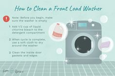 A clean front-load washer equals fresher laundry. Learn how to scour a front-load washer to remove and prevent bad odors. Daily Cleaning, Cleaning Hacks, Stinky Washing Machine, Vinegar In Laundry, Housekeeping Tips, Front Load Washer, How Do I Get, Keep It Cleaner, Good To Know