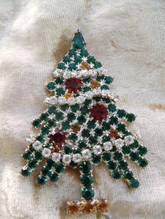 Christmas Tree Brooch Eisenberg Ice by BraceletsbyBarbaraJ on Etsy, $95.00