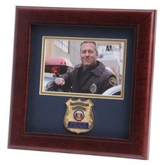 Police Department Medallion Landscape Picture F Hand Made By Veterans