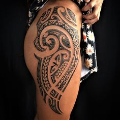 100 Best Tribal Tattoos and Designs for Men and Women - Millions Grace Tribal Hip Tattoos, Polynesian Tribal Tattoos, Tribal Tattoos For Women, Hip Tattoos Women, Tattoos For Guys, Tribal Women, Polynesian Tattoo Sleeve, Filipino Tribal Tattoos, Polynesian Art