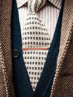 a796c738c9bc knit tie + tie clip for fall engagement shoots Dapper Gentleman, Dapper  Men, Gentleman