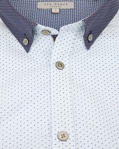 e8436a9106277 DOTODOT - Stripe dot printed shirt - Blue