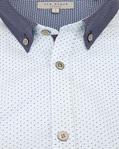 DOTODOT - Stripe dot printed shirt - Blue | Men's | Ted Baker