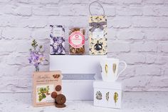A gift box filled with delicious afternoon tea delights, a perfect present or when you're staying for the weekend. Afternoon Tea Hamper, Luxury Hampers, Chocolate Butter, Inspirational Gifts, Mother Day Gifts, Coffee Cups, Presents, Place Card Holders, Free Uk
