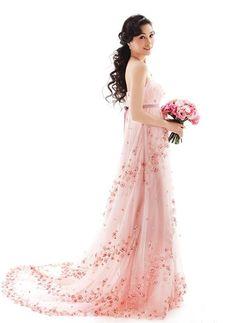 so pretty...almost looks like a cherry blossom tree   cherry blossom wedding   www.endorajewellery.etsy.com   pink wedding