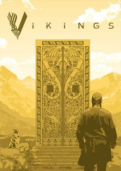 pics of the golden doors to valhalla in vikings season 5 Ragnar Lothbrok, Rollo Vikings, Norse Vikings, Vikings Tv Series, Vikings Tv Show, Art Viking, Viking Shop, Vikings Season 5, Bracelet Viking