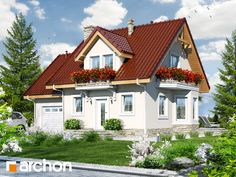 Dom w winogronach 4 House On A Hill, Home Fashion, Entrance, House Plans, Exterior, Cabin, House Design, How To Plan, Living Room