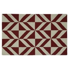 Check out this item at One Kings Lane! Raymon Flat-Weave Rug, Red
