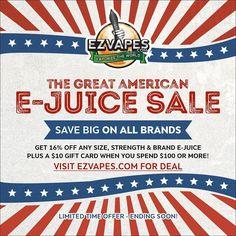 GREAT AMERICAN E-JUICE SALE