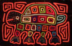 Kuna Indian Hand Stitched Kuna Turtle Mola Panama 104045 | eBay