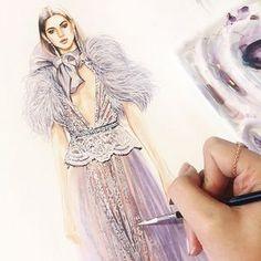 Elie Saab Spring 2018 Couture✨#eliesaab #soniashao #vogue #fashionillustrations #illustration #watercolor #fashionart #artwork #artevm #illustrationfashion #best_fashion_art #drawing #artsblogger #fashionblogger #时装画 #服装设计 #插画 #sonia邵