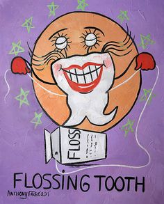 Floosing Tooth Dental Art Collectiable Anthony Falbo by falboart, $49.00