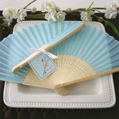 Blue Silk Wedding Fans are perfect for a summer wedding. Wedding fan favors are made from silk and make a stunning place card holder. Shower Favors, Party Favors, Shower Gifts, Beach Theme Garden, Hand Fans For Wedding, Vegas Theme, Beach Wedding Favors, Wedding Ideas, Wedding Inspiration