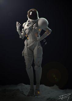 Sci Fi Astronaut by Julien Desroy