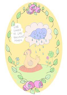 Los lunes ni las gallinas ponen. = Di lunedì nemmeno le galline fanno le uova. #español #españolidioms #lunes #lunesgoidioms #grammateca #cristinacomi Hens, Mondays