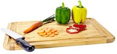 Bamboo Cutting Board and Serving Tray Best Cutting Board, Bamboo Cutting Board, Cutting Boards, Cool Kitchens, Tray, Cleaning, House, Haus, Trays