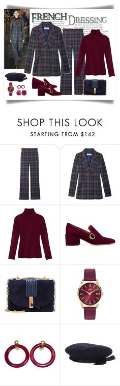 """Gabriela Hearst Angela Plaid Blazer & Pant Look"" by romaboots-1 ❤ liked on Polyvore featuring Gabriela Hearst, Tory Burch, Altuzarra, Henry London, Kenneth Jay Lane, Chanel and Stila"