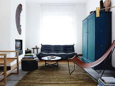 Interior living room by Michael Verheyden Wood, leather