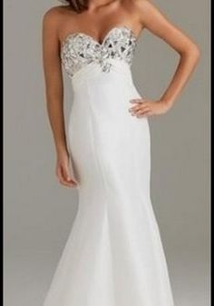 Long White Winter Formal Dresses