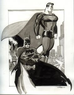 Batman and Superman by Tim Sale