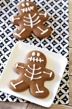 Halloween cookie idea used a gingerbread cutter - gluten free vegan gingerbread skeleton cookies Gluten Free Treats, Gluten Free Cookies, Gluten Free Baking, Vegan Baking, Vegan Gluten Free, Paleo, Dairy Free, Cookies Vegan, Almond Cookies