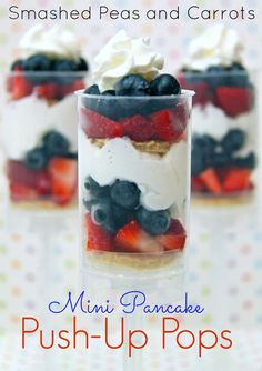 First Day of School breakfast idea-Mini Pancake Push-Up Pops