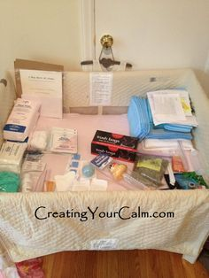 Ever wonder what's needed for a #homebirth? Complete home birth kit!