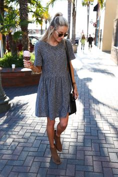 Knit peplum dress