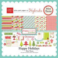 Echo park Happy Holidays hybrid mini theme - Google Search