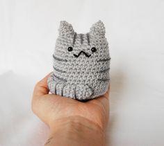 Amigurumi Cat Grey Crochet Plush - Gladys £13.00 #folksyfriday