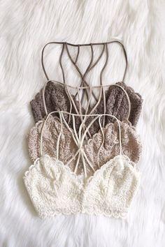 lace bralette with cage back Fashion Design Inspiration, Mode Inspiration, Lingerie Fine, Jolie Lingerie, Look Fashion, Fashion Outfits, Womens Fashion, Fashion Wear, Net Fashion