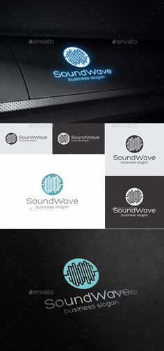 EPS SoundWave Logo Template • Only available here ➝ http://graphicriver.net/item/soundwave/16795724?ref=pxcr