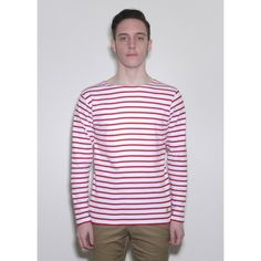 Long Sleeve Sailor Stripe Logo T-Shirt