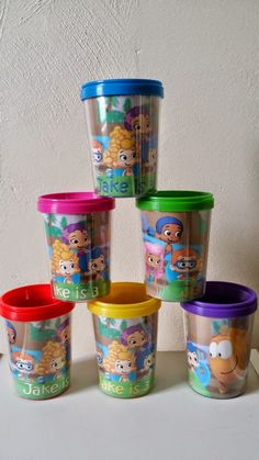 ~Birthday Party Dessert Cups Lot of 2 BUBBLE GUPPIES TREAT ICE CREAM CUPS 16
