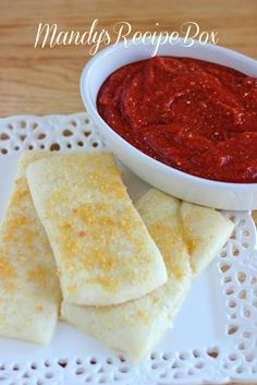 Mandy's Recipe Box: {Copycat} Little Caesar's Breadsticks <--although i'm not quite sure this counts as a diy, she uses pillsbury pizza crust.