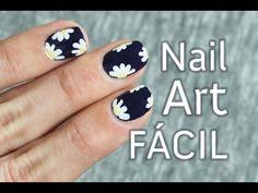 trendy nails art flores paso a paso Owl Nail Art, Daisy Nail Art, Daisy Nails, Floral Nail Art, Best Nail Art Designs, Toe Nail Designs, Margarita Nails, Summer Nails 2018, Camouflage Nails