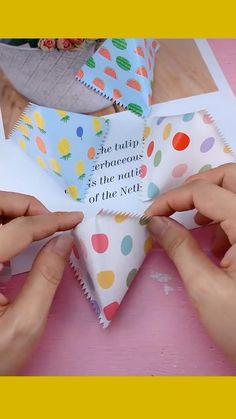 Diy Crafts For Gifts, Easy Diy Crafts, Diy Crafts Videos, Paper Crafts, Diy Gift Bags Paper, Diy Videos, Origami Tutorial, Origami Easy, Origami Gifts