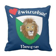 Thurgau Schweiz Switzerland Kissen Switzerland, Throw Pillows, Crests, Cushion, Cushions, Decorative Pillows, Decor Pillows, Scatter Cushions