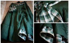 Бохо юбка изумрудная. Вариация на тему юбочки 'Хитана', в таком вот красивущем сочетании.   Красивый изумрудный лен и веселенькая клеточка.   Решила выложить это сочетание отдельной работой, ибо оно того заслуживает, как мне… Tartan, Skirts, How To Wear, Clothes, Black, Women, Ideas, Fashion, Clothing