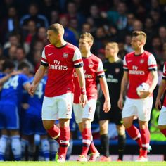 Lukas Podolski and Arsenal FC against Chelsea FC