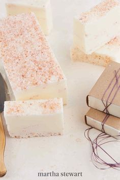 The sweet smell of lavender is a favorite among soap makers for a reason. This DIY project shows you how to make soap using goat's milk and the essential oil. #marthastewart #crafts #diyideas #easycrafts #tutorials #hobby