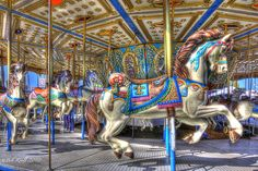 Merry-Go-Round-II Merry Go Round, Carousels, Sideshow, Vintage Items, Carnivals, Horses, Photo And Video, Carnavals, Carnival