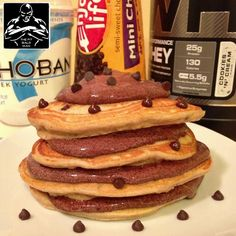cookies & cream protein pancakes - THE FIT BALD MAN